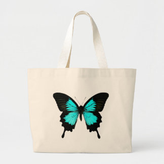 Butterfly - turquoise blue and black bags