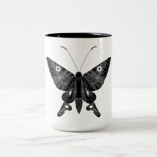 Butterfly Two-Tone Coffee Mug