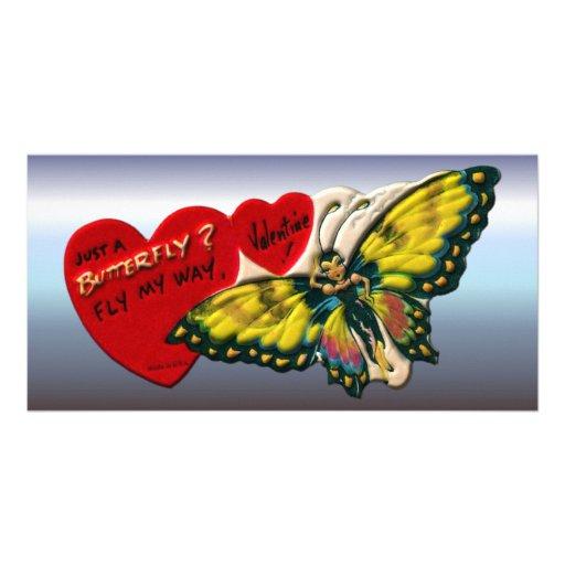 Butterfly Valentine - Fly Away Custom Photo Card