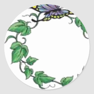 butterfly vine rose stickers
