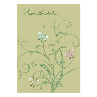 Butterfly Vine Wedding Save the Date Reminder Card Pack Of Chubby Business Cards
