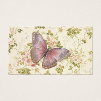 Butterfly & Vines Shabby Chic Calling Cards