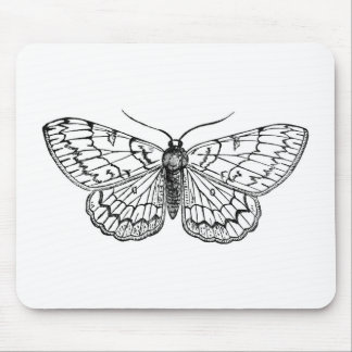 butterfly vintage illustration mouse pad