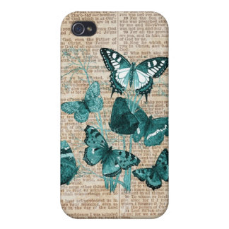 Butterfly & Vintage Scripture iPhone Case iPhone 4 Cases