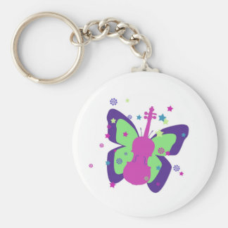 Butterfly Violin Keychains