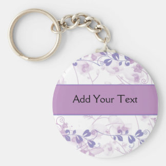 Butterfly Vision in Lilac Purple Key Ring