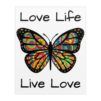 BUtterfly Wall Art - Love Life