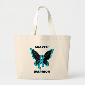 Butterfly/Warrior...Graves' Large Tote Bag