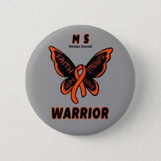 Butterfly/Warrior...MS 6 Cm Round Badge