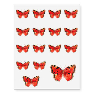 Butterfly Watercolor Red Butterfly
