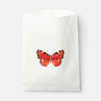 Butterfly Watercolor Red Butterfly Favour Bag