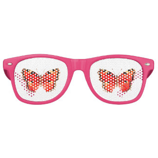 Butterfly Watercolor Red Butterfly Retro Sunglasses