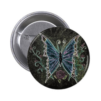 Butterfly Web 6 Cm Round Badge