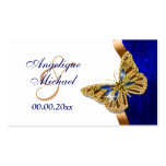Butterfly wedding brown blue gold business card templates