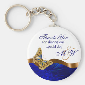 Butterfly wedding favor engagement anniversary basic round button key ring