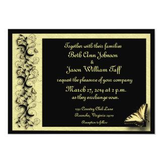 "Butterfly Wedding Invitation 5"" X 7"" Invitation Card"