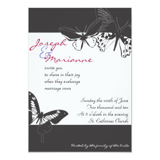 Butterfly Wedding Invitation Invite Engagement