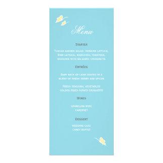 Butterfly Wedding Menu Custom Invite