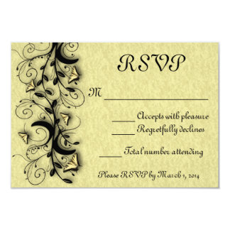 "Butterfly Wedding RSVP Card 3.5"" X 5"" Invitation Card"