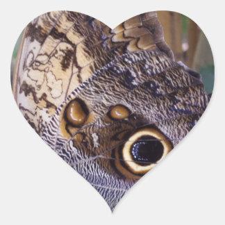 Butterfly Wing Heart Sticker