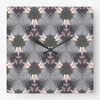 Butterfly Wings Geometric Design Clock