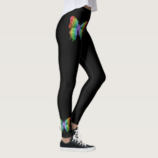 Butterfly Wings on Black Leggings
