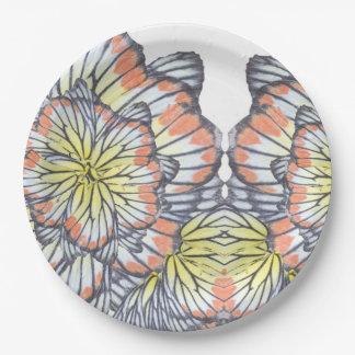 butterfly wings paper plate