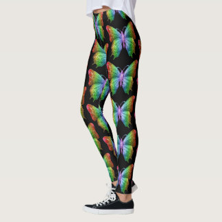 Butterfly Wings Pattern Bright Leggings