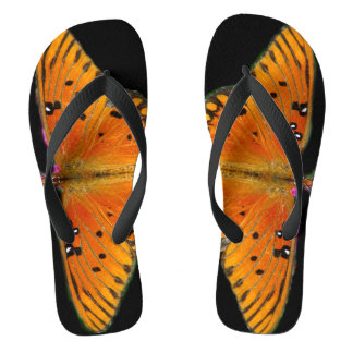 Butterfly Wings Photograph On Flip Flops