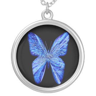 Butterfly Wings Round Pendant Necklace