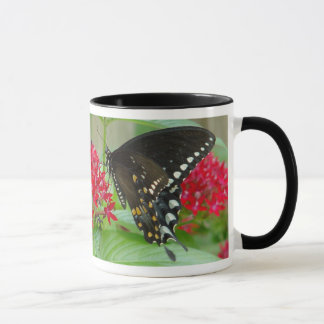 Butterfly with Red Flowers Mug