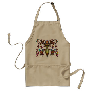 Butterfly Woman Flying Apron