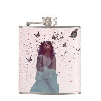 Butterfly Woman Hip Flask