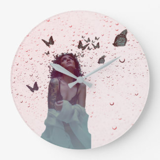 Butterfly Woman Large Clock