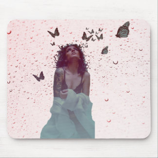Butterfly Woman Mouse Pad