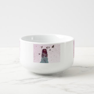 Butterfly Woman Soup Mug