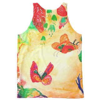 Butterfly World. All-Over Print Singlet