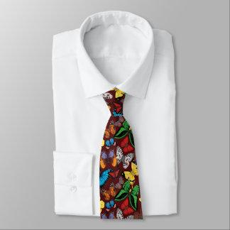 Butterfly World Burgundy Tie