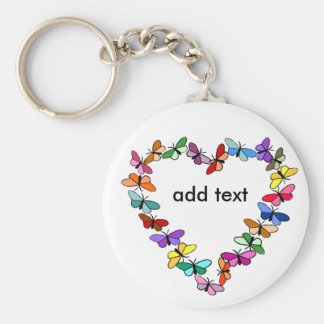 Butterfly wreath, add text key chain