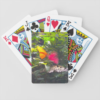Butterfly Yellow Flower Pink Bicycle Playing Cards
