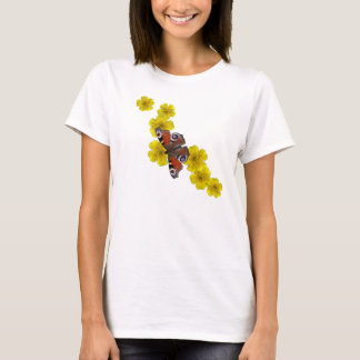 Butterfly & yellow flowers tee