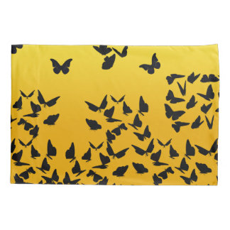 butterfly yellow pillowcase