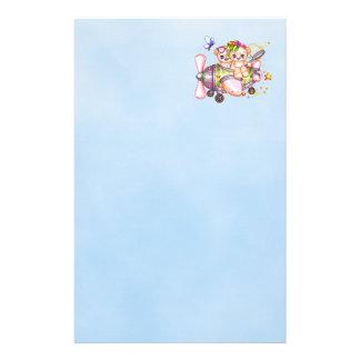 Butterflying Bears Pixel Art Custom Stationery