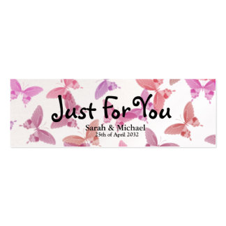 Butterfly'Just For You' Wedding favor Gift tag Business Card