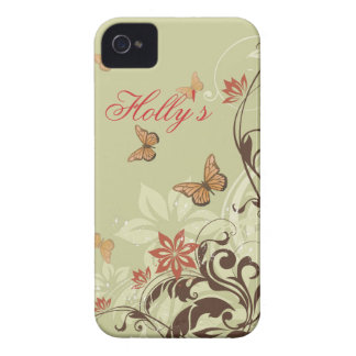 Butterfly's and Vines iPhone 4 Case-Mate Cases