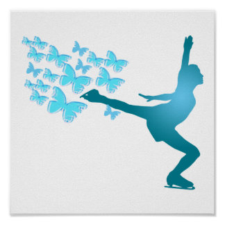 butterflyskater Ice Skating Poster