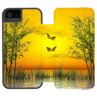 Butterlflies by sunset - 3D render Incipio Watson™ iPhone 5 Wallet Case