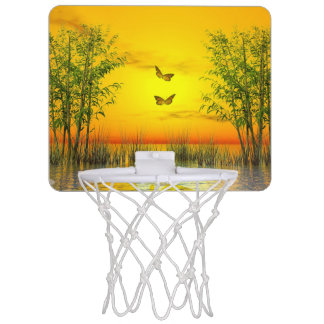Butterlflies by sunset - 3D render Mini Basketball Hoop