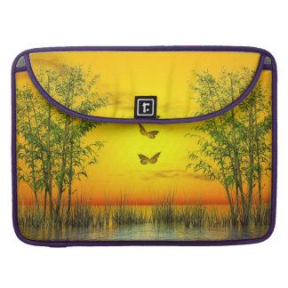 Butterlflies by sunset - 3D render Sleeve For MacBook Pro