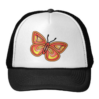butterly-graphic mesh hats